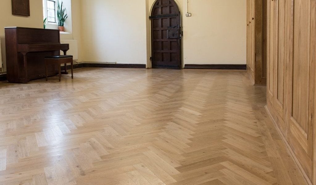 New Solid Oak Block Parquet Floors Upgrade A Busy Church