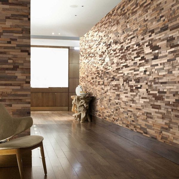 Create A Patchwork Feature Wall: Stylish Wooden Wall Cladding