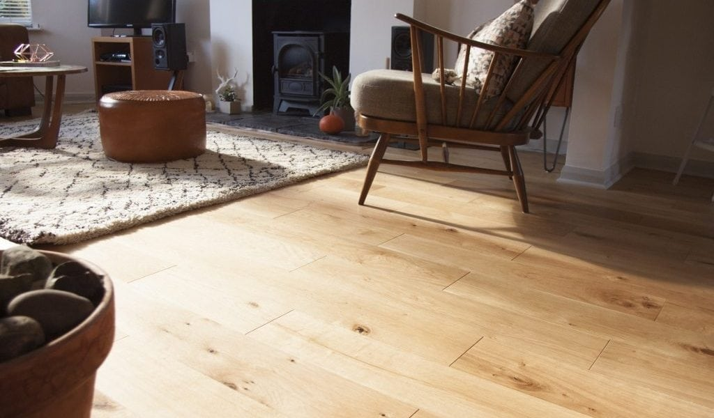 Vittoria Rustic Oak Wood Floors Are Chosen For A Victorian Home