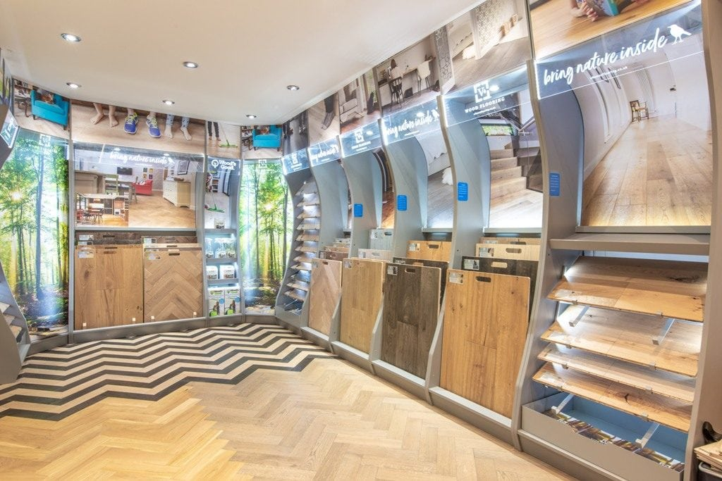 V4 Wood Flooring Destination Stands Go Live In Bucks Flooring Showroom