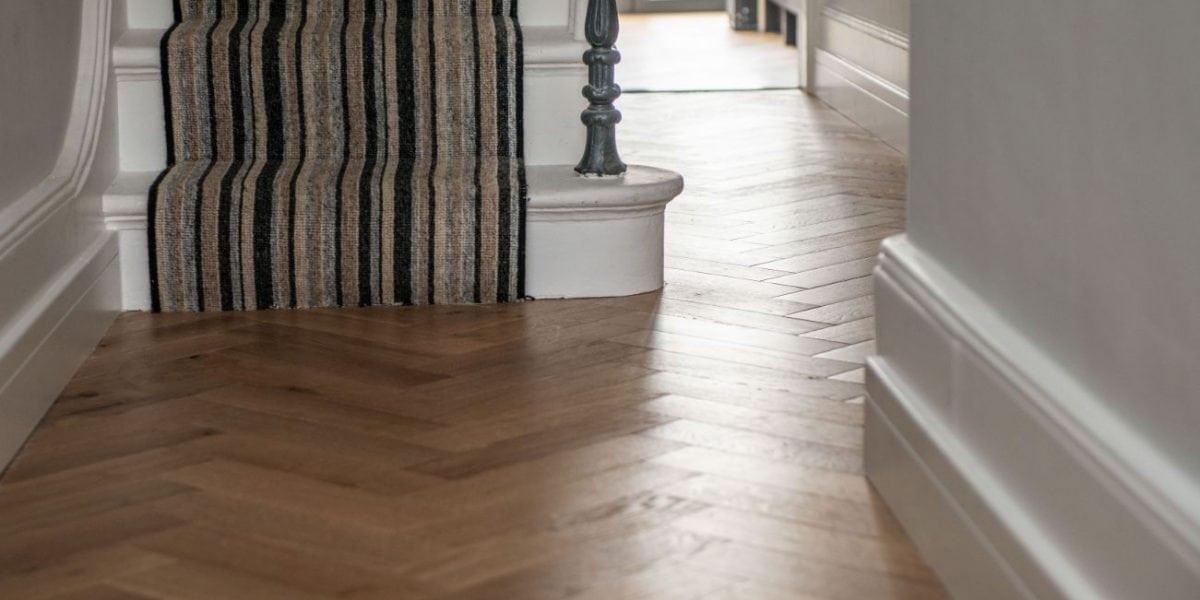 V4 S Zigzag Herringbone Oak Floors Feature In Victorian Town House