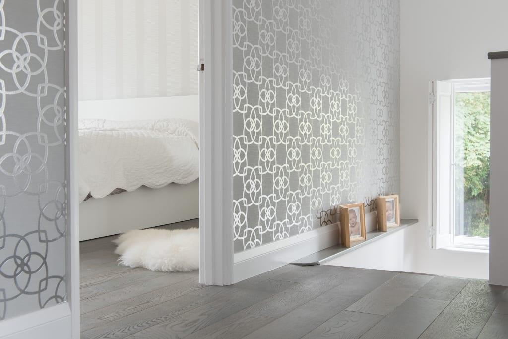 grey oak floors in bedroom design