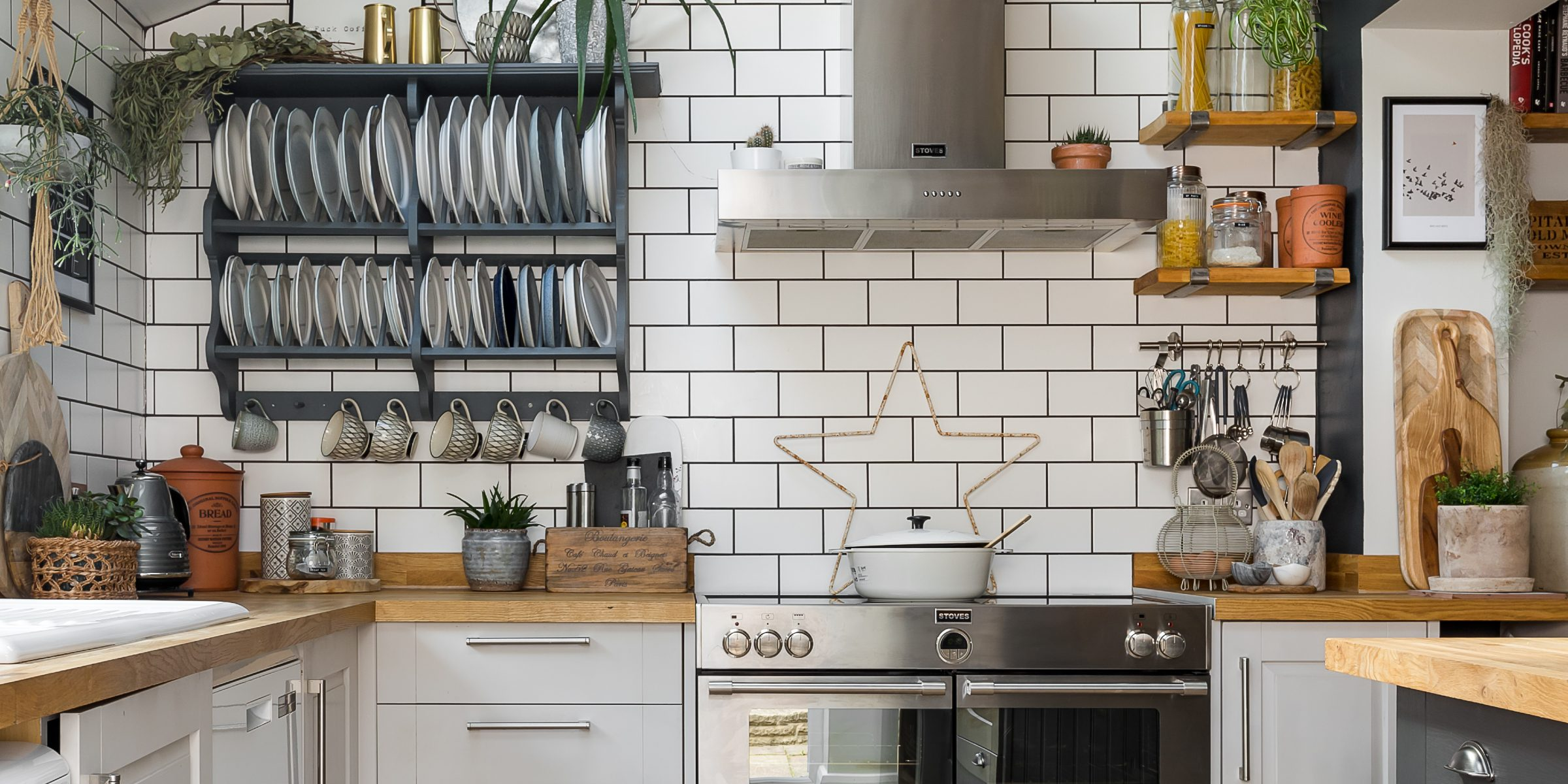 kitchen with zigzag frozen umber 4
