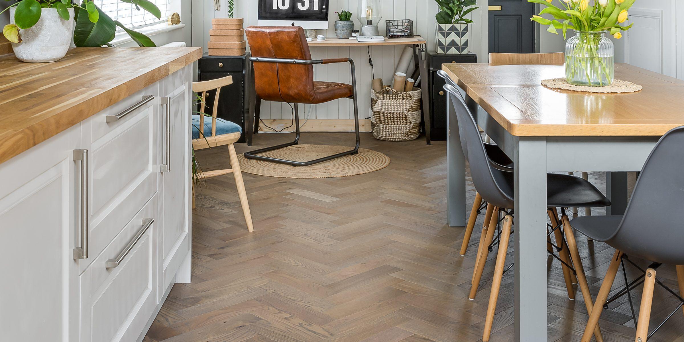kitchen with zigzag frozen umber 8