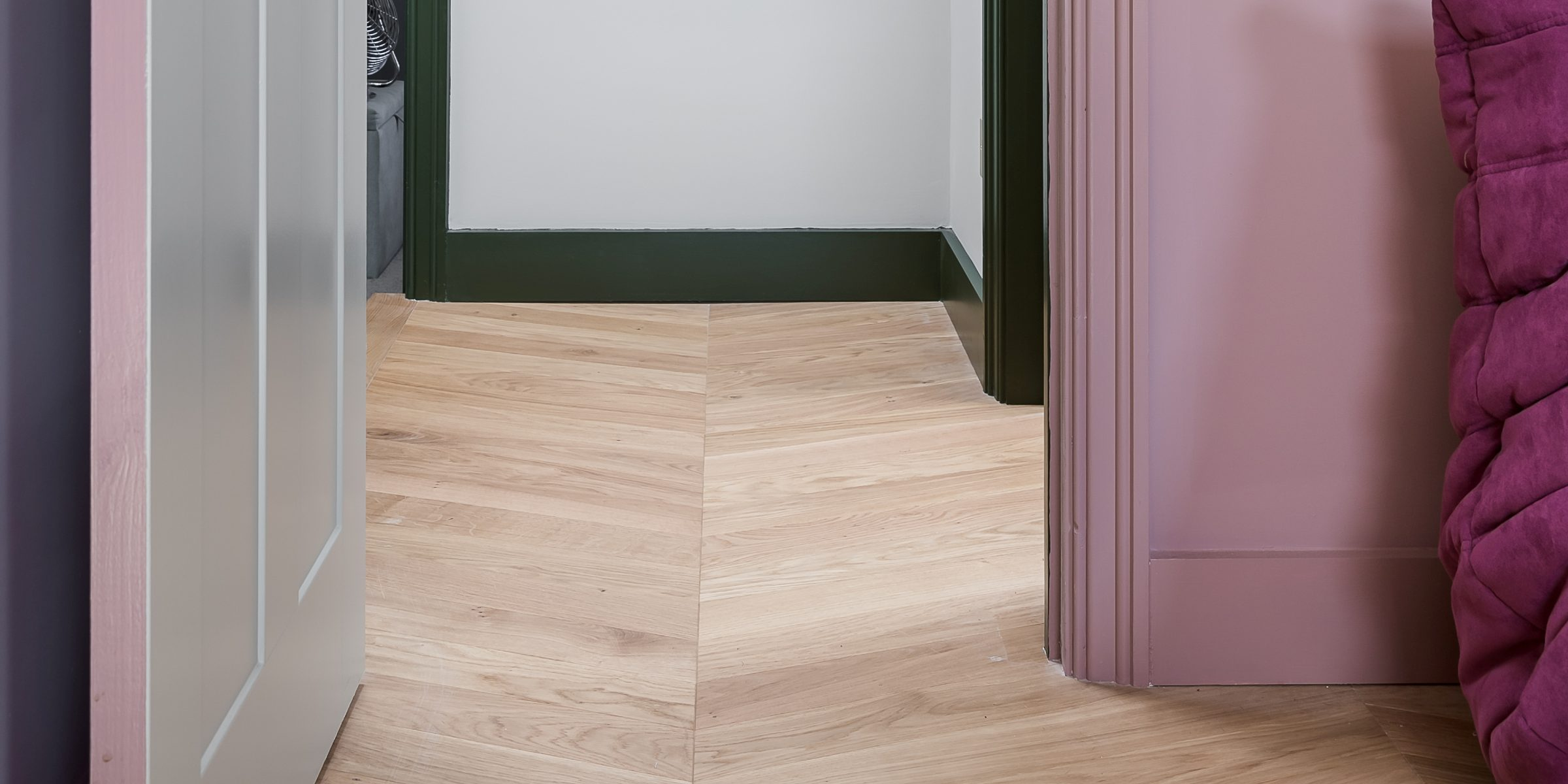 chevron oak floors