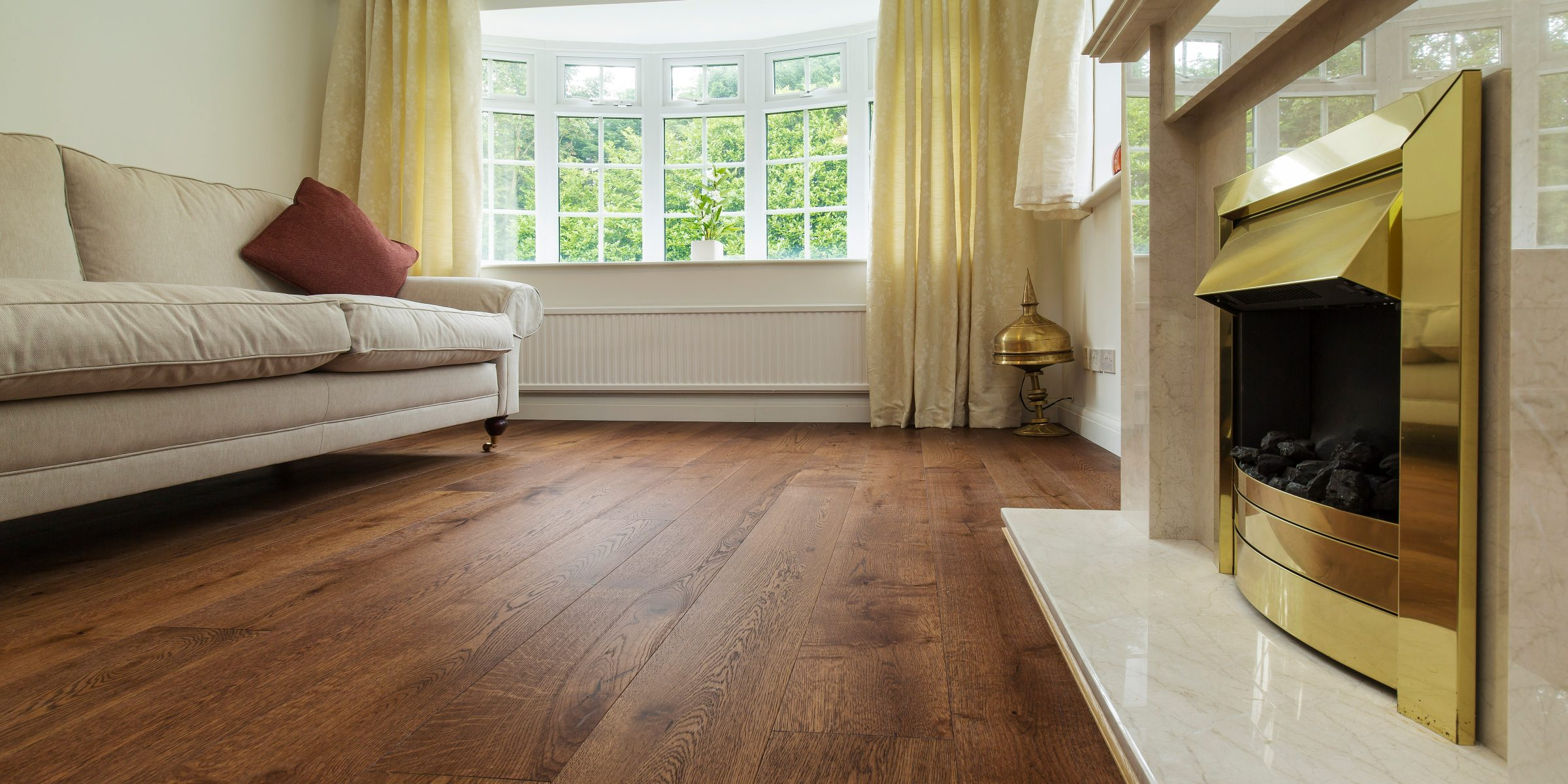 living room with abinger wood floors