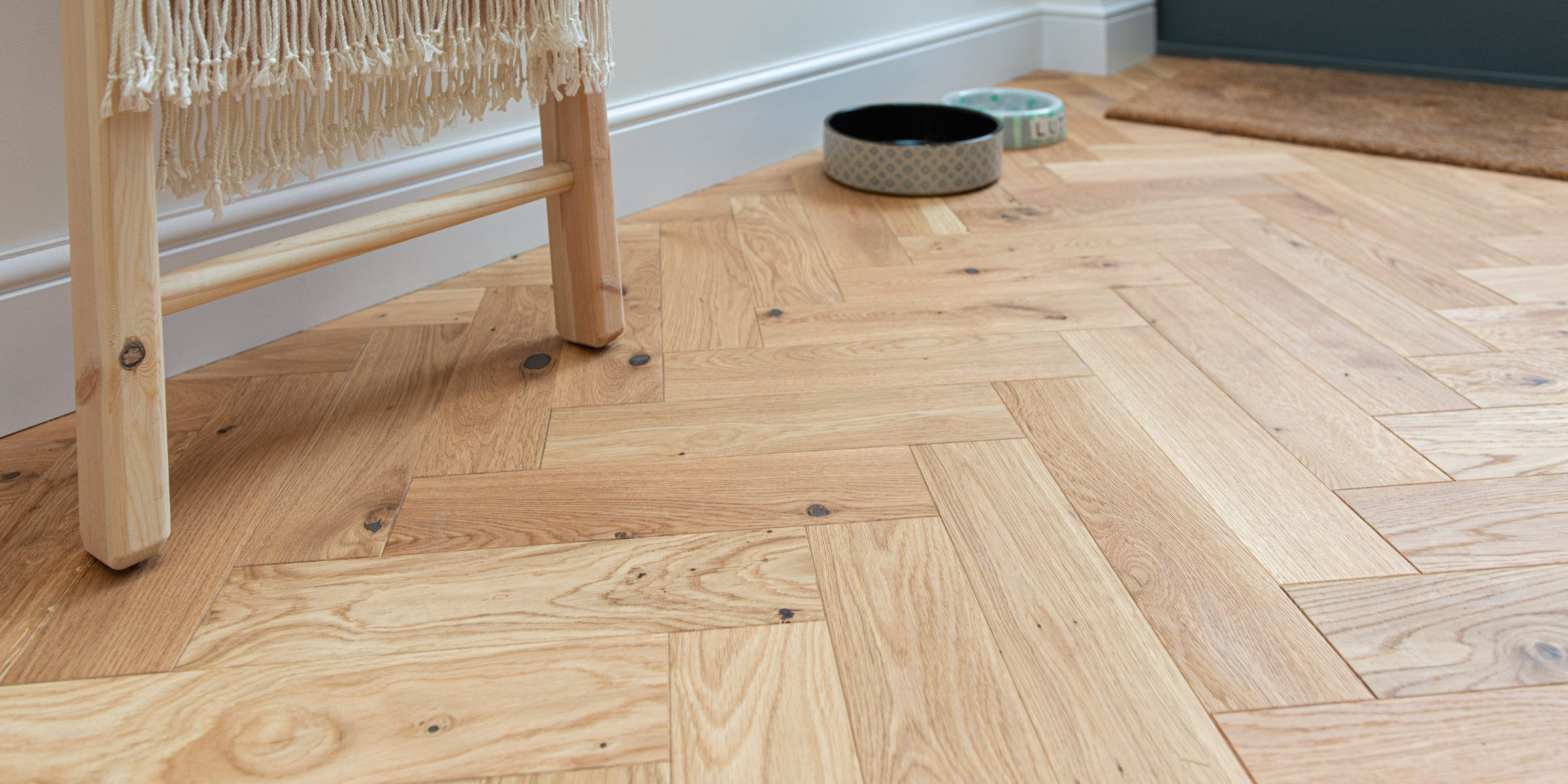 zigzag natural oak wood floors