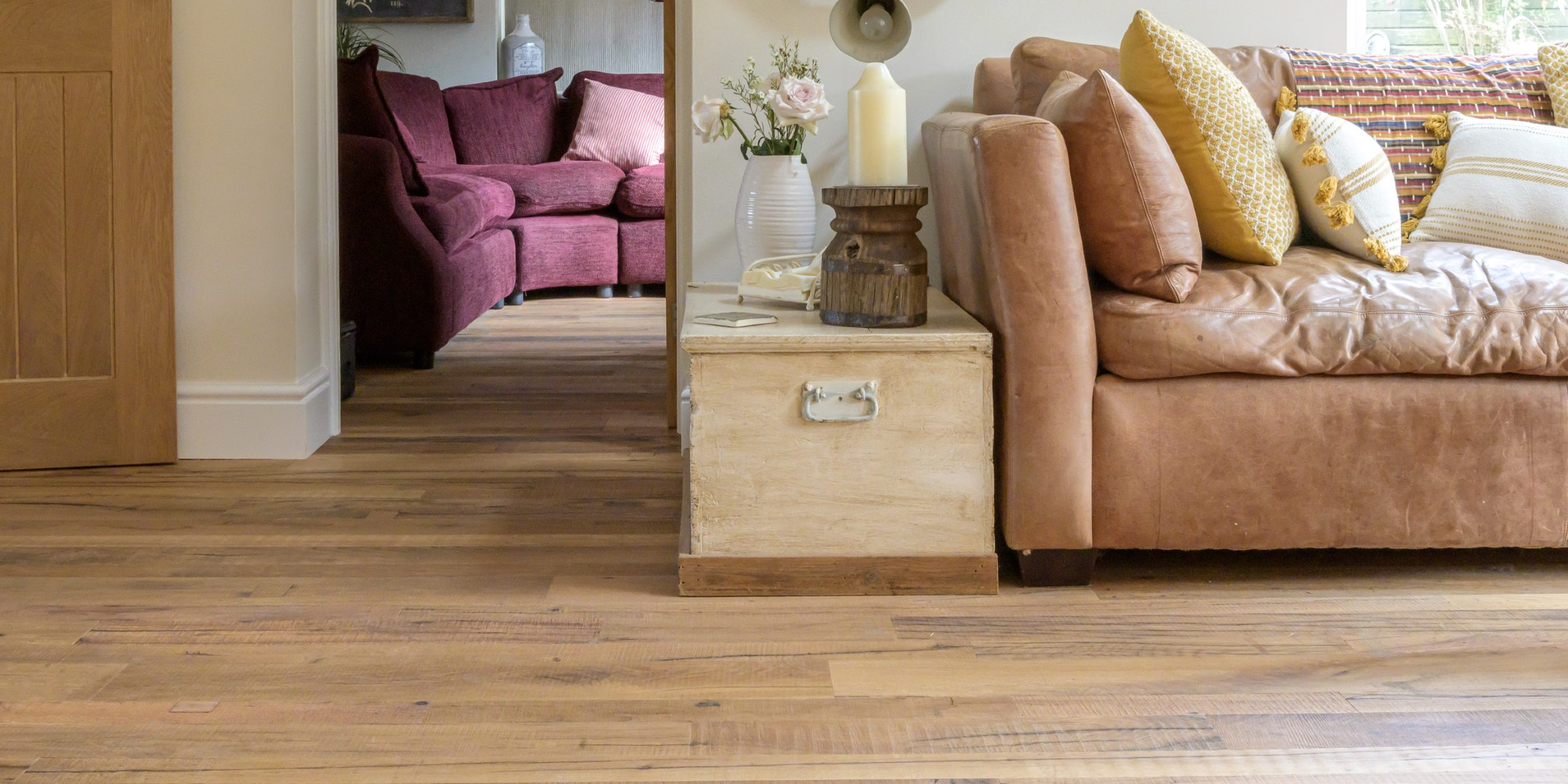 cheam home with reclaimed wood floors