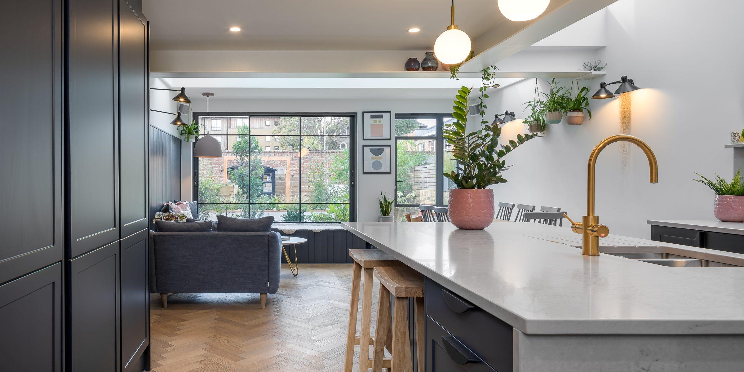 family kitchen in wimbledon