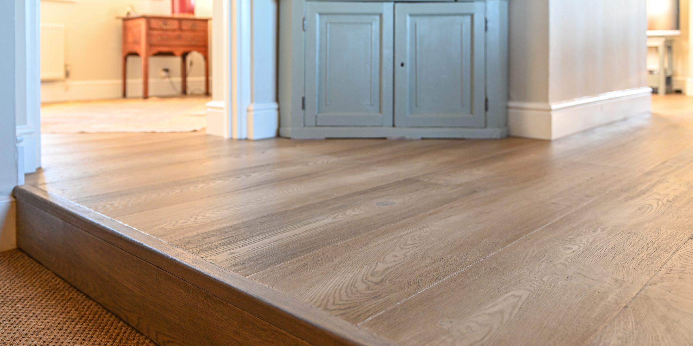 engineered wood floor step