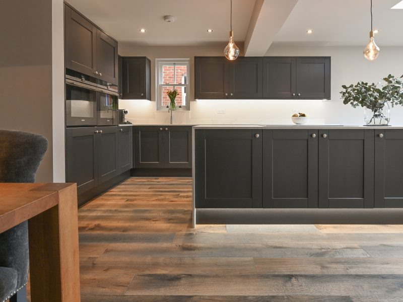 howdens kitchen with V4 urban nature wood floors